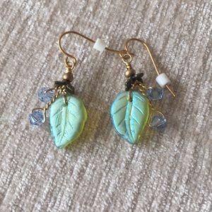 Handcrafted leaf earrings
